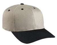 Image Budget Caps | Cobra-6-Panel Mid Pro Style Khaki Crown w/leather strap