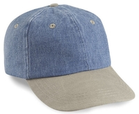 Image Cobra-6-Panel Washed Denim Sand Visor