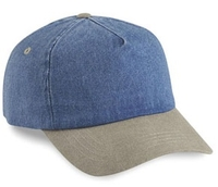 Image Cobra-5-Panel Washed Denim Sand Visor