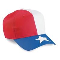 Image Cobra-Budget Caps 6-Panel Texas Flag