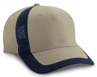 Image Budget Caps | Cobra-5 Panel Brushed Cotton Jersey Mesh Trim