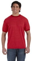 Image Authentic Pigment Direct-Dyed Mens Heather Ringer Tee