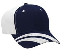 Image Budget Caps | Cobra-6 Panel Cotton Striped Atheltic Mesh Visor