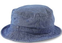Image Cobra-Stone Washed Denim Bucket Hat