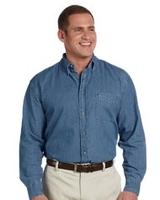 Image Harriton Mens Long-Sleeve Denim Shirt