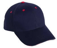 Image Cobra-6 Panel Brushed w/Flag Sandwiched Bill