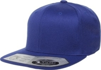 Image Yupoong-Flexfit -Wool Blend Snap Back Flat Bill Stretches with adjustable snap