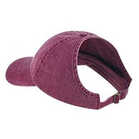 Image Otto-Washed Pigment Dyed Cotton Twill Ponytail Low Profile Pro Style