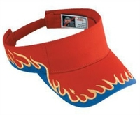 Image Otto-Flame Pattern Cotton Twill Sun Visors