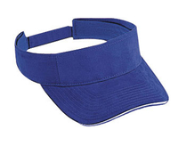 Image Otto-Brushed Cotton Twill Sandwich Visor Sun Visors