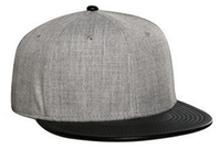 Image Otto-Wool Blend Flat Leather Visor Pro Style Snapback