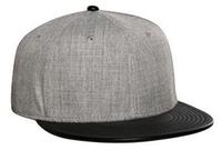 Image Otto-Wool Blend Flat Leather Visor Pro Style Snapback