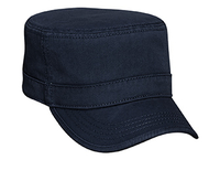 Image Otto-Garment Washed Cotton Twill with Binding Trim Visor Military Style