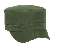 Image Otto-Garment Washed Cotton Twill Military Style Adjustable Cap
