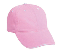 Image Otto-Washed Pigment Dyed Cotton Twill Sandwich Visor Low Profile