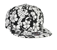 Image Otto-Superior Cotton Twill Hawaiian Pattern Flat Visor Pro Style