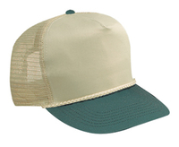 Image Budget Caps | Otto-Two-Tone Cotton Twill High Crown Golf Style Mesh Back