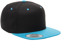 Image Yupoong-Two Tone Pro Style Wool Baseball Cap w/Flat Bill