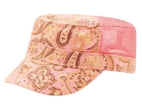 Image Mega Ladies' Paisley Print Canvas Mesh Army Cap