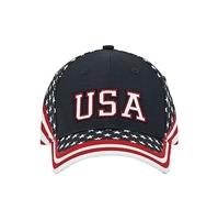 Image Mega-6 Panel Cotton Twill USA Flag Cap