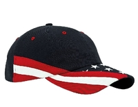 Image Mega-6 Panel Cotton Twill Washed USA Cap