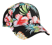 Image Otto-Hawaiian Pattern Cotton Twill Low Profile Pro Style