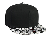 Image Otto-Superior Cotton Twill Flat Visor  with Hawaiian Pattern