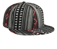 Image Otto-Aztec Pattern Polyester Jacquard with Binding Trim Pro Style Snapback