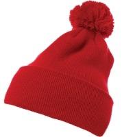 Image Yupoong-Pom Pom Beanie Cuffed Knit Hat