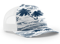 Image Richardson Trucker Island Pattern Twill Trucker  Mesh