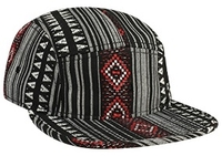 Image Otto-5-Panel Aztec Pattern Polyester Jacquard Flat Billed Cap