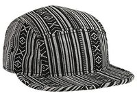 Image Otto-Aztec Pattern Cotton Jacquard Square Flat Visor with Binding Trim