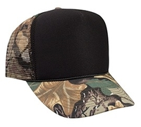Image Otto-Polyester Foam Front Camo Visor Mesh Back High Crown Golf Style