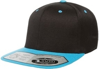 Image Yupoong-Flexfit -Two Tone Wool Blend Snap Back Flat Bill Stretches