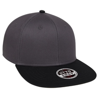 Image COTTON TWILL SQUARE FLAT VISOR OTTO 6 PANEL PRO SNAPBACK