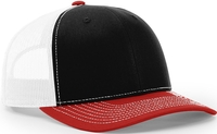 Image Richardson Trucker Tri Colored Twill Mesh Snapback