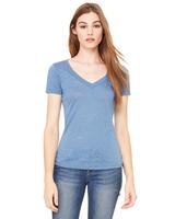 Image Bella + Canvas Ladies' Burnout Short-Sleeve V-Neck T-Shirt