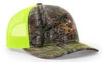 Image Richardson Trucker Realtree Camo Pattern Twill Trucker Mesh