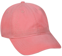 Image Outdoor Ladies Fit Enzyme Washed 6 Panel Cap with Decorative Embroidery