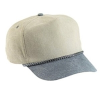 Image Budget Caps | Cobra-5-Panel Two Tone Stone Washed Canvas