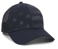 Image Outdoor 6 Panel Mesh Back Debossed Stars and Stripes