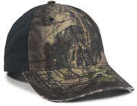 Image Outdoor 6 Panel Oil Stained Cotton Twill Frayed Visor