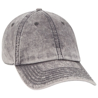 Image Otto 6 Panel Low Profile Snow Washed Superior Cotton Twill Cap
