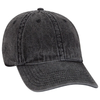 Image Otto 6 Panel Low Profile Snow Washed Demin Cap