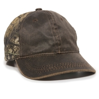 Image Outdoor 6 Panel Weathered Cotton Camo Cap