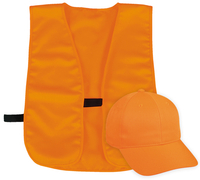 Image Outdoor Safety Blaze Cap and Polyester Vest Set