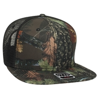 Image Otto Snap 6 Panel Camo Superior Poly Twill Square Flat Visor Snapback 8317cd8eb