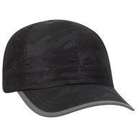 Image Otto 6 Panel Polyester Pongee Reflective Edge Running Cap