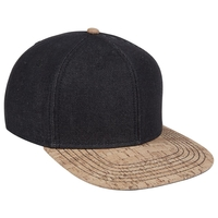 Image Otto Denim Cork Square Flat Bill Snap Back