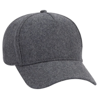 Image Otto Five Panel Low Profile Melton Wool Blend Cap